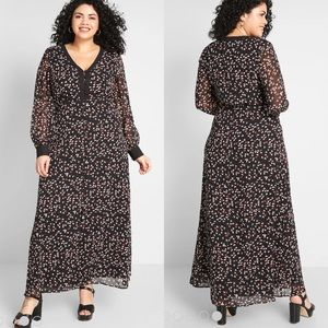 ModCloth Windswept Off My Feet floral maxi dress